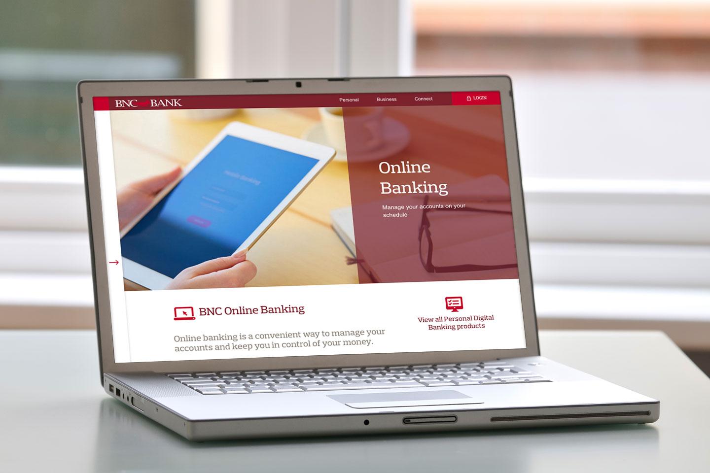 BNC Bank website